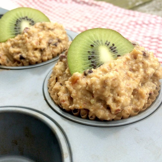 Kiwi fruit muffin recipe with cacao nibs orange zest